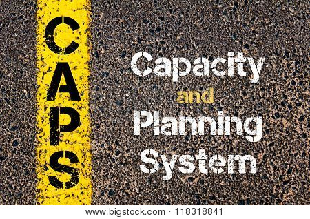 Business Acronym Caps Capacity And Planning System