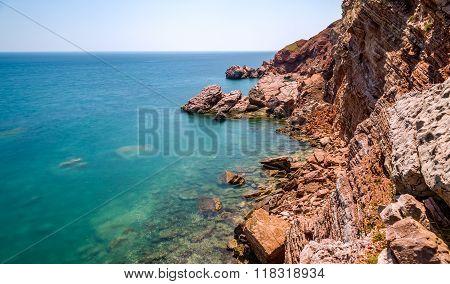 Adriatic sea rocks long exposure effect photo