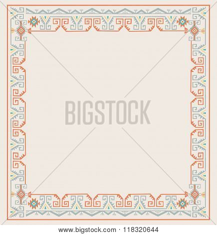 Ethnic Frames Vector. Tribal Vector Frame. Navajo Stile Frame. Tribal Vintage Ethnic Ornament. Hand Drawn Ethnic Frame. Frames Space For Text. For Invitations Announcements Frame. Photo Frames.
