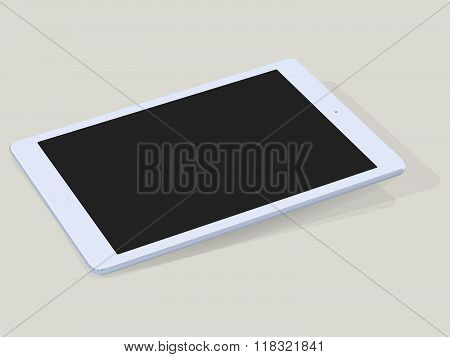 Single Blank Computer Tablet