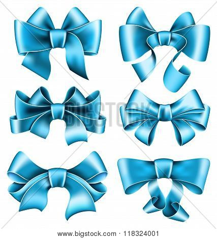 Six blue bows