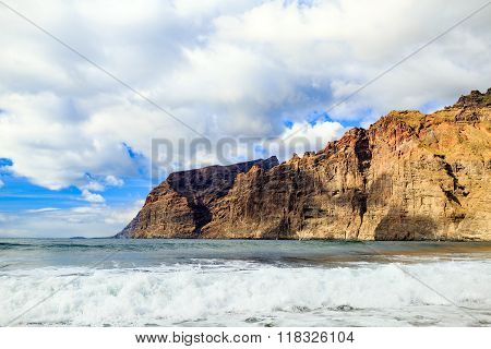 Los Gigantes Mountains Rock On Tenerife, Canary Islands Spain