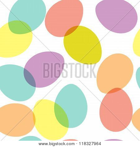 Vector seamless pattern with decorative oval shapes.
