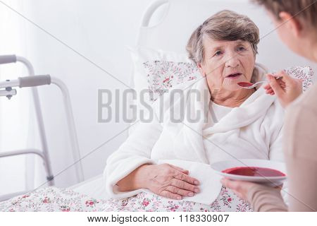 Woman Eating Dinner