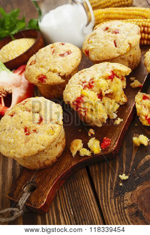 Muffins With Corn And Paprika