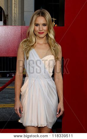 Kristen Bell at the Los Angeles Premiere of