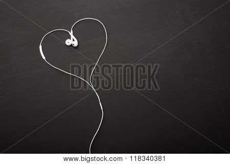 Headphones in heart shape