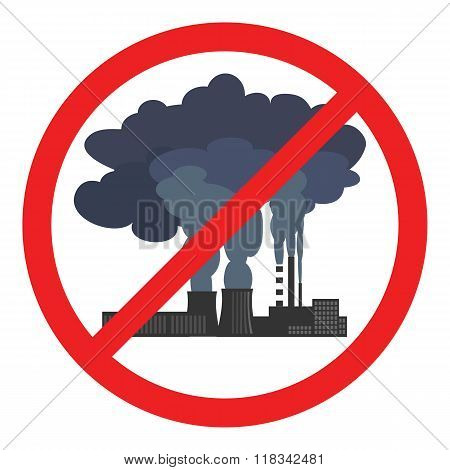Stop air pollution sign. Vector illustration