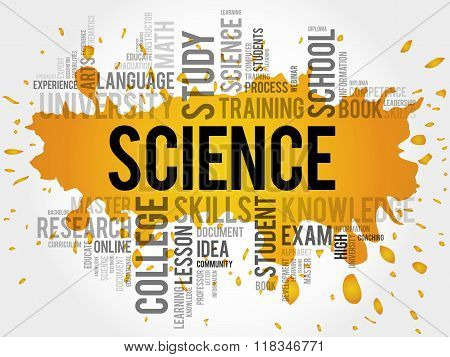 SCIENCE word cloud education concept, presentation background