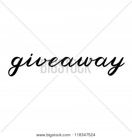 Giveaway brush lettering. Cute handwriting.