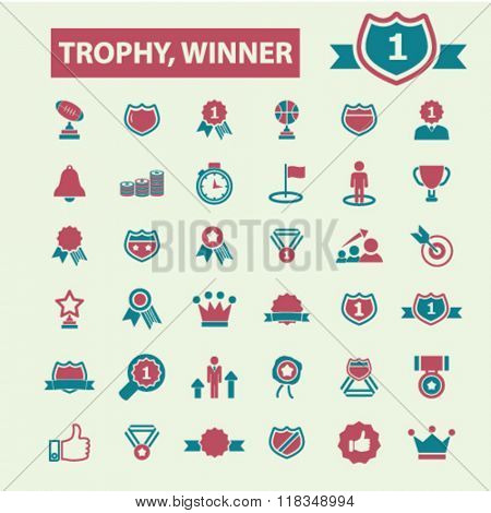 trophy icons, awards icons, award concept, achievement icon, award ribbon vector, trophy signs, prize icons