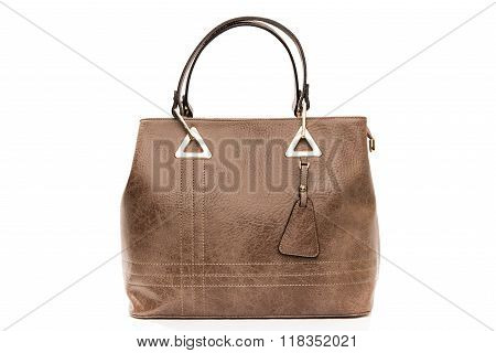 Female bags isolated on a white background