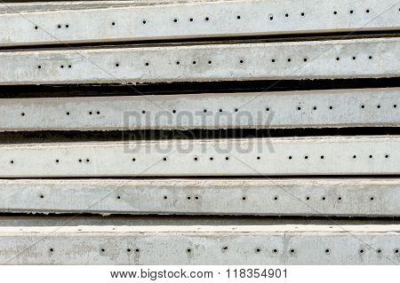 constuction concept, closeup heap of foundation pile