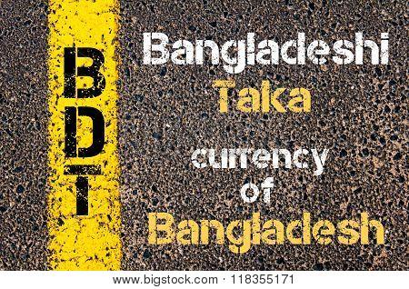 Acronym Bdt - Bangladeshi Taka, Currency Of Bangladesh