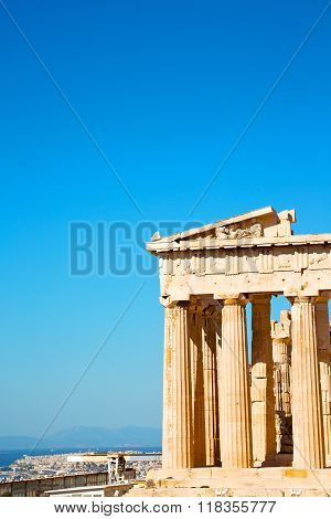 Acropolis And  Historical   Athens