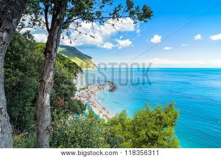 Sirolo Beach In Conero National Park, Italy