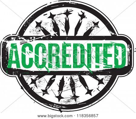 Vector Accredited Rubber stamp with grunge texture for your design.