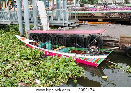 Small Longtail Boat, Chayo Phraya River, Bangkok, Thailand