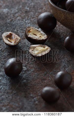 Chopped Peanuts In Chocolate