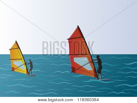 Windsurfing in the Sea Picture