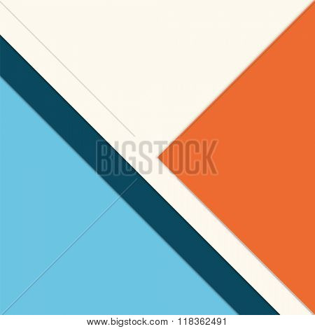 Infographic template with layered papers - abstract brochure cover design - simple presentation layout