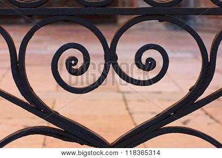 Metal gate in the city