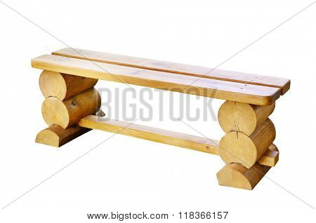 wooden bench isolated on white