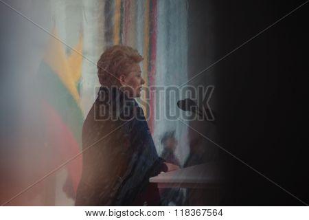 President Dalia Grybauskaite Delivers A Speech