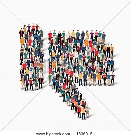 people  crowd Dislike vector