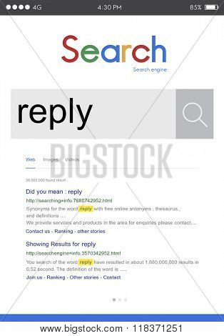 Reply Response Result Answer Communication Concept