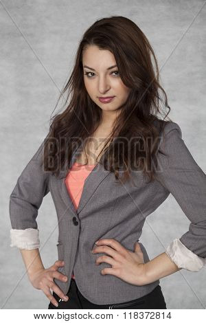 Portrait Of A Nice Businesswoman