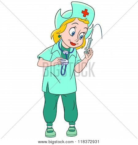 Cute Cartoon Nurse