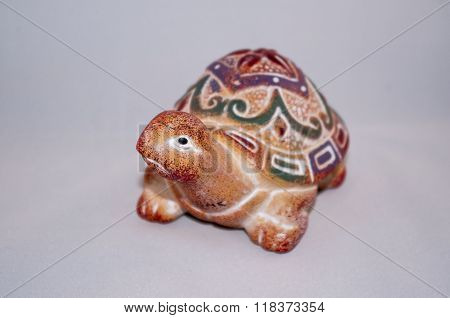 Ceramic figurine of turtle