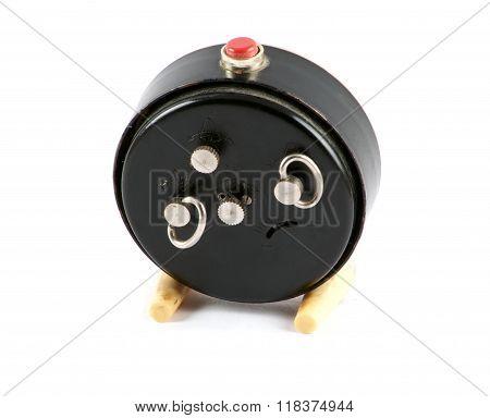 Back Of Round Soviet Clock