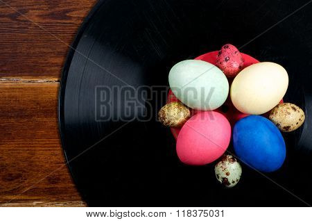 Colorful Eggs On Vinyl