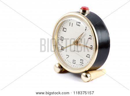 Round Soviet Clock Side View