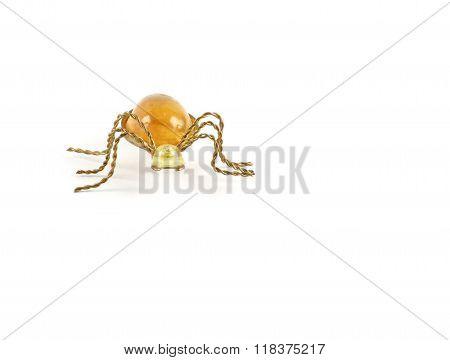 Spider Golden Brooch Front