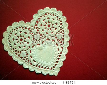 White Lacey Heart