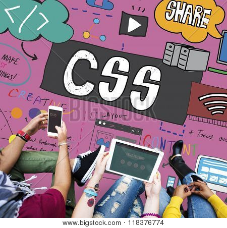 CSS Cascading Style Sheets Programming Networking Technology Concept