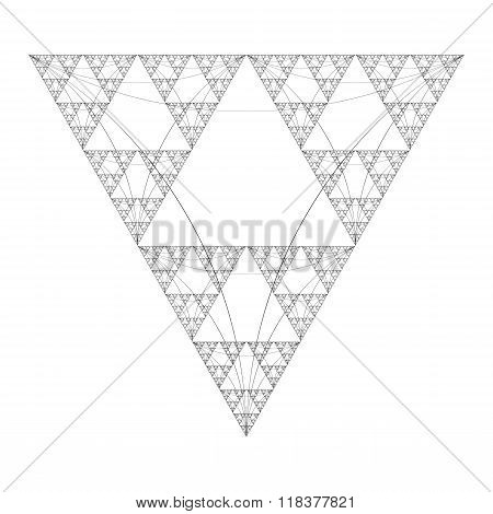 Triangle Sacral Geometry Fractal Structure Background.