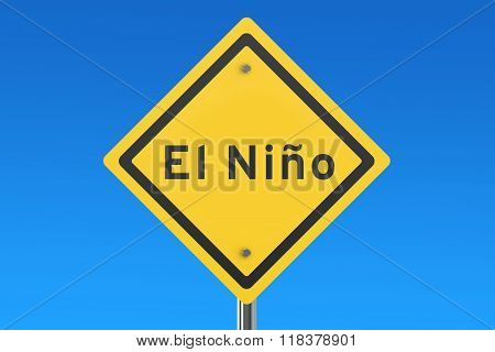 El Nino Road Sign