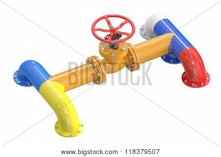 Russia-ukraine Gas Crisis Concept