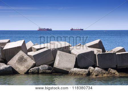 Sea Concrete Dam