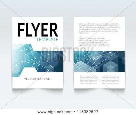 Business design template. Cover brochure book flyer magazine layout mockup geometric polygonal shape