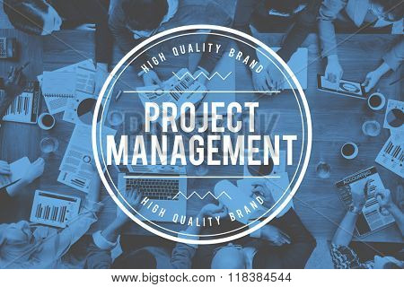 Project Management Strategy Coordination Business Concept