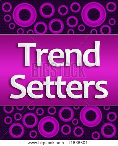 Trend Setters Pink Purple Rings Background