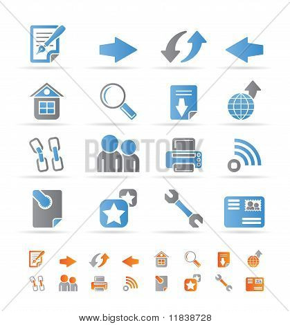 Website navigation and computer icons