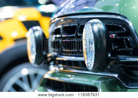 Zoom 4X4 Car Headlight In Car Show Event