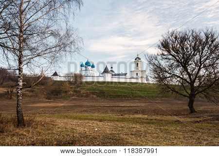 Orthodox monastery in the old city of Serpukhov, Russia