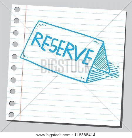 Reserve card